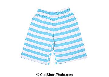 crianças, listrado, -, desgaste, shorts