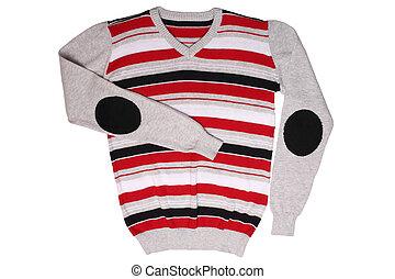 crianças, listrado, -, suéter, desgaste