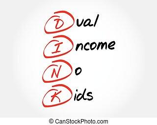 crianças, não, dink, -, dual, renda