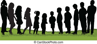 crianças, natureza