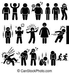 crianças, saúde, físico, mental