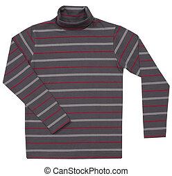 crianças, suéter, listrado, branca, isolado