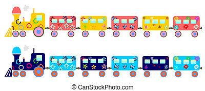 crianças, trem