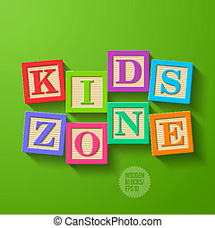 crianças, zona