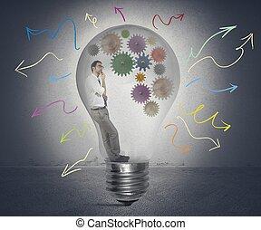 criar, um, idéia