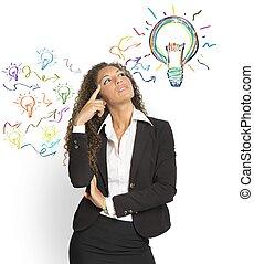 criar, um, idéia grande