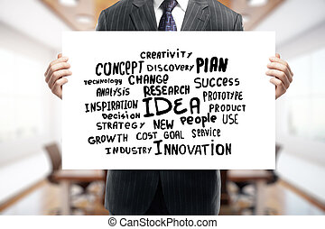 criatividade, e, inovação, conceito