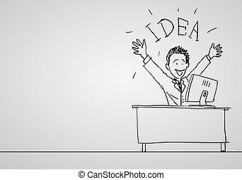 criatividade, sucesso, negócio