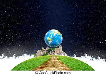 criatividade, terra, e, imaginação