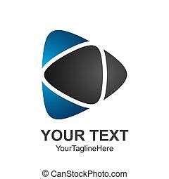 criativo, abstratos, mídia, jogo, botão, vetorial, logotipo, desenho, modelo, element., colorido, pretas, azul, conceito, ícone