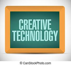 Criativo, conceito, tecnologia, tábua, sinal