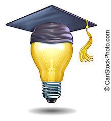 criativo, educação, conceito