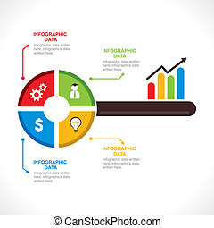 criativo, negócio, tecla, info-graphics