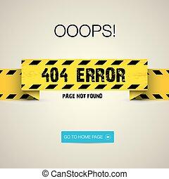 criativo, página, não, encontrado, 404, erro