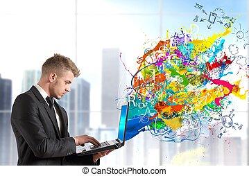 criativo, tecnologia