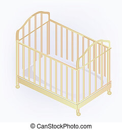 crib illustration - vector crib illustration