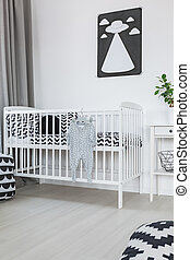 Crib in baby room