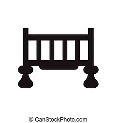 Crib isolated icon