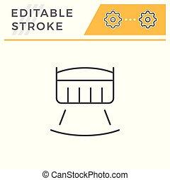 Crib line icon isolated on white. Editable stroke. Vector...