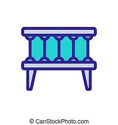 crib lullaby icon vector. crib lullaby sign. color symbol illustration
