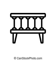crib lullaby icon vector. crib lullaby sign. isolated contour symbol illustration