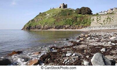 Criccieth beach North Wales UK - Criccieth North Wales UK...