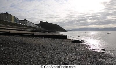 Criccieth Wales UK early morning sea view - Criccieth Wales...
