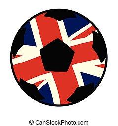 cricco, bandiera, regno unito, football, unione