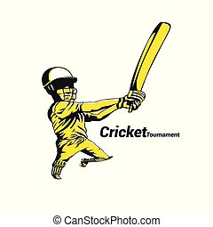 Cricket Australia vector illustration. - Cricket Australia...