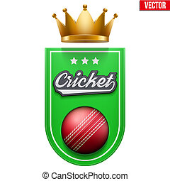 Cricket Badge and Label