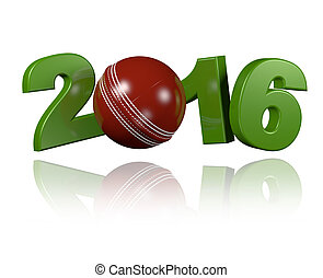 Cricket ball 2016 design with a white Background