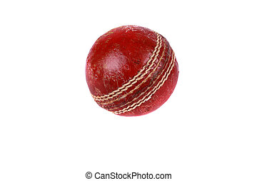 Cricket Ball - A cricket ball isolated on a white...
