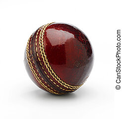 Cricket Ball - A new cricket ball on a white background...
