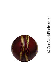 Cricket Ball - A new shiny cricket ball isolate on white -...