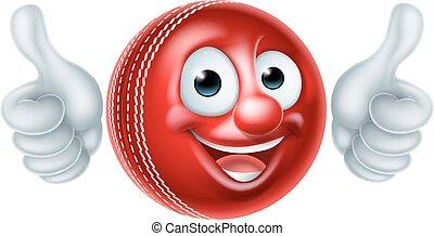 Cricket Ball Cartoon Character