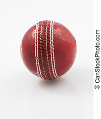 Cricket ball close up
