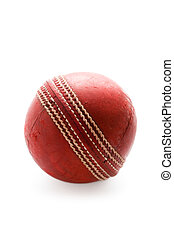 cricket ball isolated - used cricket ball isolated on a...