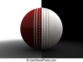 Cricket Ball Split Between Formats - A traditional cricket...