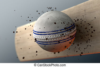 Cricket Ball Striking Bat In Slow Motion - An extreme...