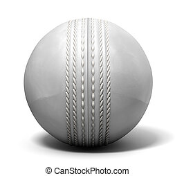 Cricket Ball White - An white leather cricket ball isolated...