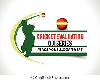 Cricket banner background with bats man vector illustration