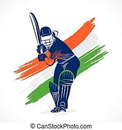 cricket banner design - indian cricket player hit the big...