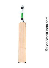 Cricket bat  - A wooden cricket bat isolated on white