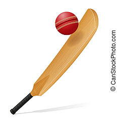 cricket bat and ball illustration