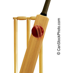 cricket bat and cricket ball