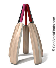 Cricket Bat Circle - A circular array of generic cricket...