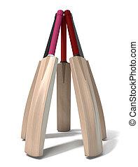 Cricket Bat Circle - A circular array of generic cricket...