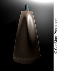 Cricket Bat Dark - A dramatically lit generic wooden cricket...