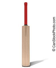 Cricket Bat - A generic wooden cricket bat on an isolated...