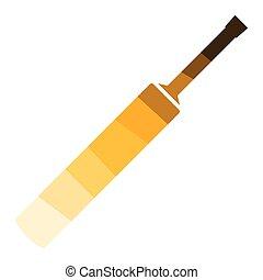 Cricket bat icon. Flat color design. Vector illustration.